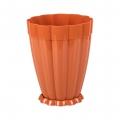 Горшок цветочный пластик 1,5л поддон Фантастика коричневый