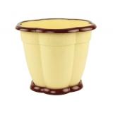 Горшок цветочный Восторг 3л с поддоном светло-желтый