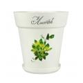 Горшок цветочный Листок 3л с поддоном белый