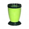 Горшок цветочный Каролина 1л с поддоном салатовый-зелёный