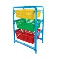 Этажерка детская для игрушек 3-х секционная 450х310х640