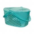 Корзина для пикника М1351 зелёно-голубой