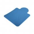 Коврик на сиденье автомобиля (450х660)(синий)