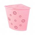 Корзина для белья Плетёнка 45л.(угловая)(розовый)