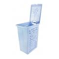Корзина д/белья 30л (голубой)