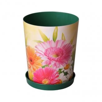 Горшок цветочный Дивный сад 1,2л с поддоном