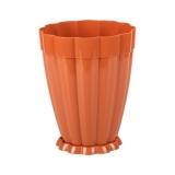 Горшок цветочный пластик 4,5л поддон Фантастика коричневый