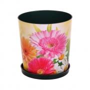 Горшок цветочный Дивный сад 1,8л с поддоном