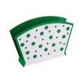Салфетница Горошек (зелено-белый)