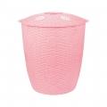 Корзина для белья Плетёнка 45л.(круглый)(розовый)