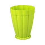Горшок цветочный пластик 4,5л поддон Фантастика салатовый