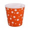 Подставка под столовые приборы Горошек (бело-оранжевый)