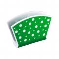 Салфетница Горошек (бело-зеленый)