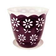 Горшок цветочный Соблазн 3л с поддоном фиолетовый