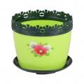 Горшок цветочный Каролина маки 0,7л с поддоном