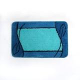 Коврик для ванной АБСТРАКЦИЯ ГОЛУБОЙ арт. DSC04-120 акриловый ворс 1,2 см, 50 х 80 см