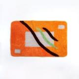 Коврик для ванной АБСТРАКЦИЯ ОРАНЖ арт. CEF07-026 акриловый ворс 1,2 см, 50 х 80 см