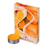 Набор свечей 6шт, в метал.гильзе, 12гр, аромат апельсин, арт.001807