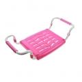 Сиденье в ванну нераздвижное пластик розовый Ника