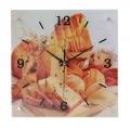 Часы настенные Кухонные стекло, дерево, 30х30см, 1xАА