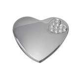 Ручка мебельная металл кнопка со стразами Сердце 3,5х3,5см