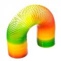 Пружинка-радуга пластик Мультиколор 15х5см