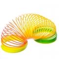 Пружинка-радуга пластик Мультиколор 6х6см