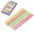 Набор мелков 10шт для рисования цилиндр, цветные, 8х1см, 5 цветов