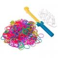 Набор для плетения браслетов со станком, пластик, 500 резинок, 17х12,5см
