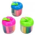 "Набор для лепки ""Листик"", тесто для лепки 110г, 12 цветов + пластик 4пр, 3 дизайна"