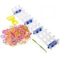 Набор для плетения браслетов со станком, пластик, 500 резинок, 30х11см