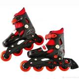 Коньки роликовые пластик аллюминий размер 36-38 черный с красным
