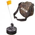 Набор для зимней рыбалки 10 комплектов (жерлица 18 см, катушка 7см, флажок, в сумке камуфляж)
