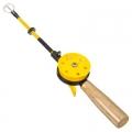 AZOR Удочка для зимней рыбалки 35см, с катушкой, хлыст с кивком, файбергласс, ручка из пробки