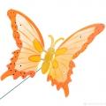 Штекер сад.Бабочка мал., h25см пл., микс
