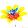 Штекер сад.Бабочка на цветке, h25см пл., микс