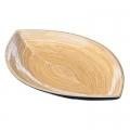 Салатник бамбук, 34x22x4см, 3 цвета, арт.55021