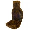 Накидка на сидение литая с подголовником (ворс 4см) 145х55см, серая, 1шт