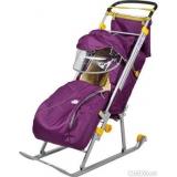 Санки-коляска Тимка 2 Комфорт баклажан