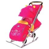Санки-коляска Ника детям 7 Фея малиновый