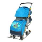 Санки-коляска Ника детям 7 Фокусник синий