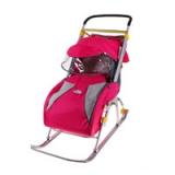 Санки-коляска Nika Ника детям 2 розовый