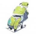 Санки-коляска Ника детям 7-2 Коллаж-Жираф лимон