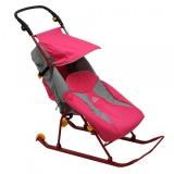 Санки-коляска Тимка 2 Классик розовый