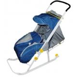 Санки-коляска Ника детям 4 синий