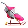 Санки-коляска Nika Тимка 2 комфорт+ розовый