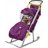 Санки-коляска Nika Ника детям 4 баклажан