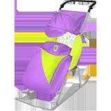 Санки-коляска Nika Тимка 2 Комфорт лаванда