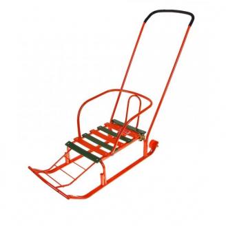 Санки Тимка 3+ с большим колесом оранжевый