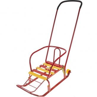 Санки Тимка 3+ с большим колесом красный